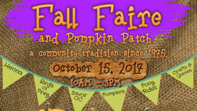 Fall Faire 2017 website frontpage