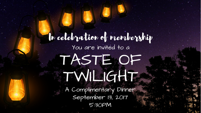 Taste of twilight - front page graphic