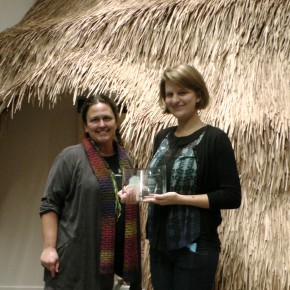 2013 Volunteer of the Year Emma Kensington (right) with Education Director Lori Whalen