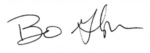 Bo Glover signature