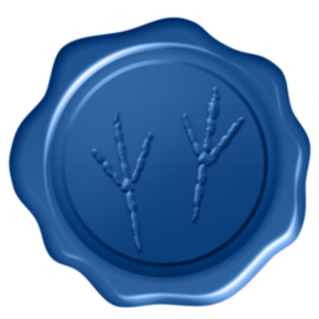 blue wax seal floating