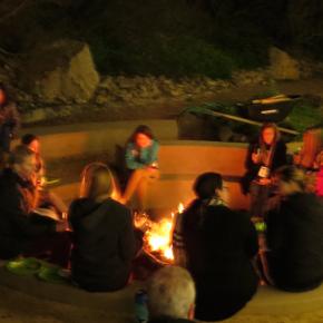 Teachers Night OUt campfire