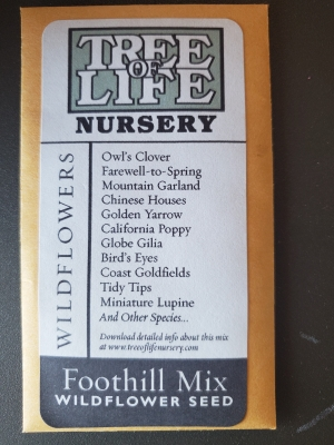 Foothill Mix Seed Packet
