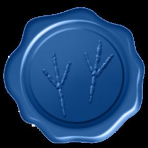 blue wax seal floating