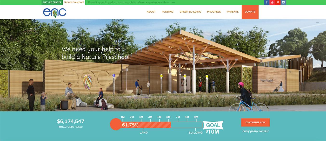 preschool website creenshot