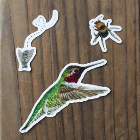 Birds and Bees Sticker
